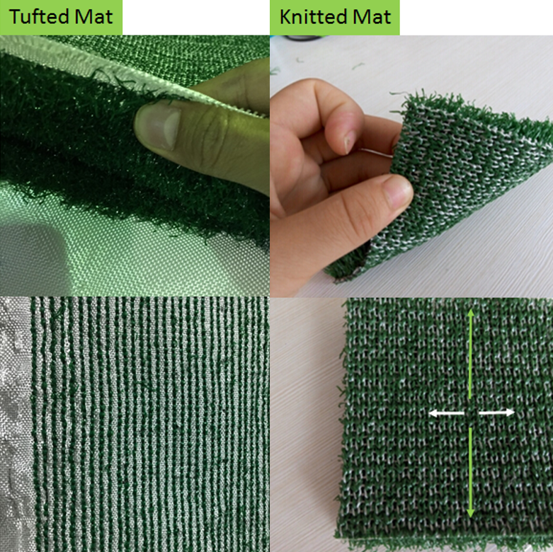 Mat Structures - Tufted v.s. Knitted