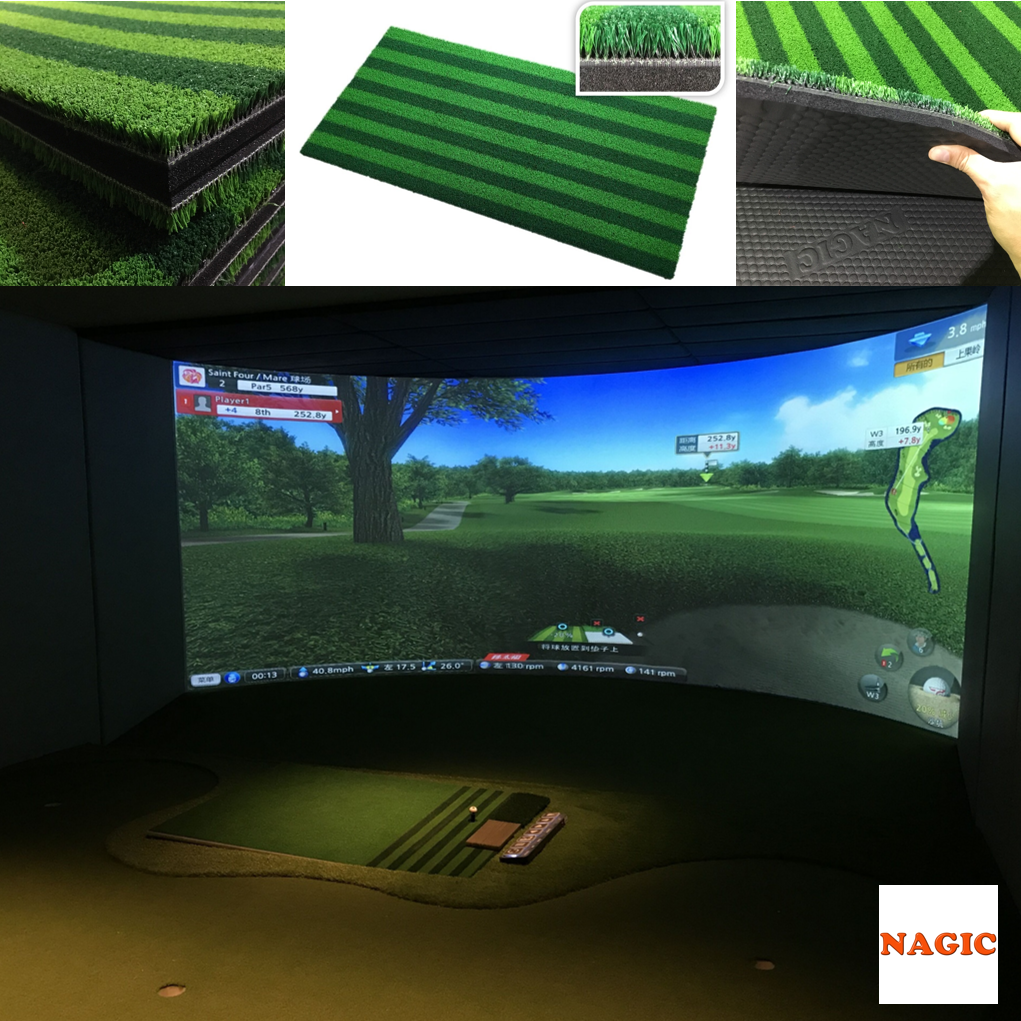 Simulator hitting mat